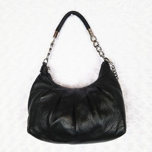 Michael Kors Black Leather Hobo